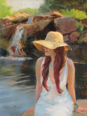 Pond Painting - Cascades by Anna Rose Bain