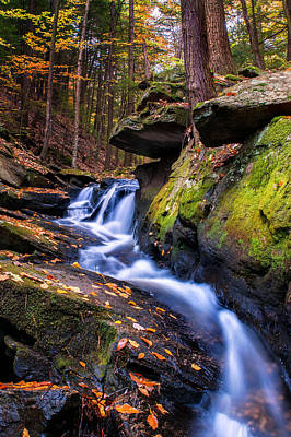 Photograph - Cascades Within Chesterfield Gorge - Nh by Expressive Landscapes Fine Art Photography by Thom