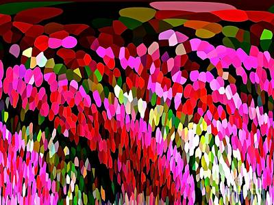 Digital Art - Cascading  Colorburst Waterfall Abstract by Saundra Myles