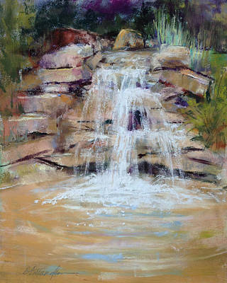 Cascading Water Art Print by Beverly Amundson