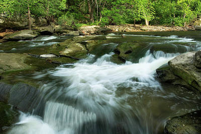 Berea Wall Art - Photograph - Cascading Water In The Rocky River by Debbie Dicarlo