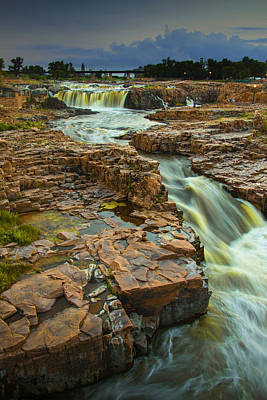 Photograph - Cascading Waterfalls At Falls Park In Sioux Falls South Dakota  by Randall Nyhof