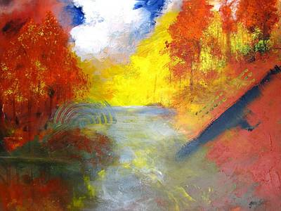 Painting - Cascading Waters by Gary Smith