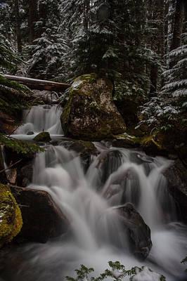 Cascading Winter Scene Art Print