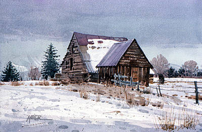 Painting - Cache Valley Barn by Donald Maier