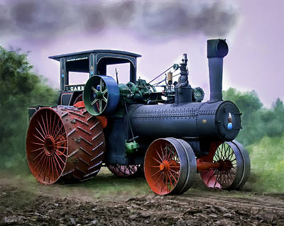 Case 110hp Steam Tractor Art Print by F Leblanc