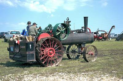 Photograph - Case Steam Engine by Bonfire Photography