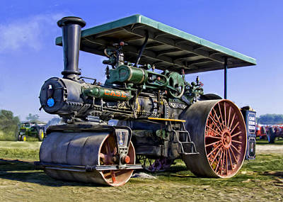 Keck Photograph - Case Steam Traction Engine Steam Roller by F Leblanc