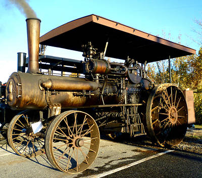 Case Steam Tractor Art Print by Pete Trenholm