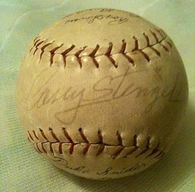 Casey Stengel Photograph - Casey Stengel Baseball Autograph by Lois Ivancin Tavaf