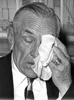 Casey Stengel Photograph - Casey Stengel Leaves Yankees by Underwood Archives
