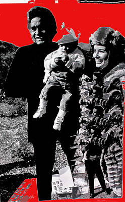 Art Print featuring the photograph Cash Family In Red Old Tucson Arizona 1971-2008 by David Lee Guss