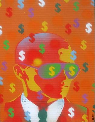Cash Rules Everything Around Me Art Print by Leon Keay