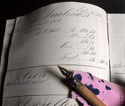 Accounting Wall Art - Photograph - Cashbook And Pen by Ton Kinsbergen