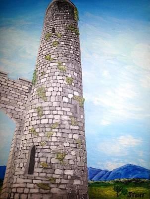 Cashel Tower Ireland Original by Irving Starr
