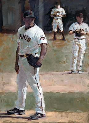 San Francisco Giants Painting - Casilla Close by Darren Kerr