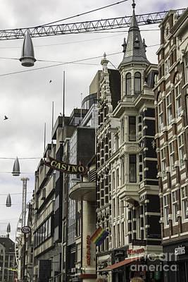 Streetlight Photograph - Casino Arcade Damrak Amsterdam by Teresa Mucha
