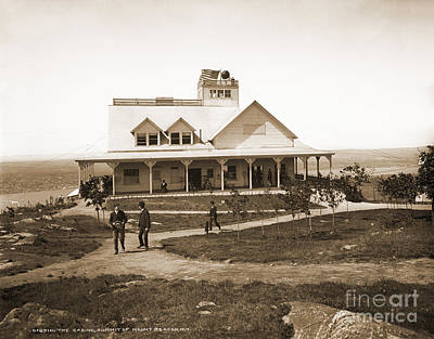 Casino At The Top Of Mt Beacon In Black And White Art Print