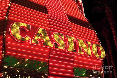 Photograph - Casino Neon by John Rizzuto