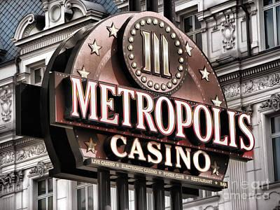Photograph - Casino Sign by Daliana Pacuraru
