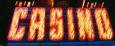Casino Sign Las Vegas Nv Art Print by Panoramic Images