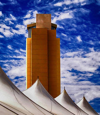 Photograph - Casino Tents by Wayne Wood