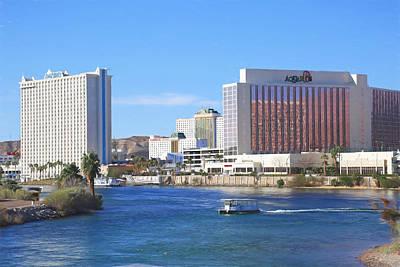Casinos Along The Colorado River Art Print by Donna Kennedy