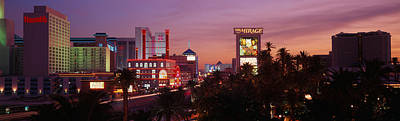 Images Of Trees Photograph - Casinos At Twilight, Las Vegas, Nevada by Panoramic Images