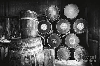 Casks And Barrels Art Print by George Oze