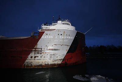 Lake Freighter Photograph - Cason Callaway by Ty Helbach