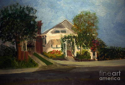 Remodernist Painting - Cason Cottage Delray Beach by Donna Walsh