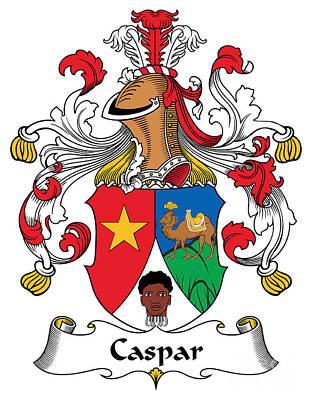 Caspar Digital Art - Caspar Coat Of Arms German by Heraldry