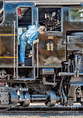 Photograph - Cass Railroad Engineer by Kathleen K Parker