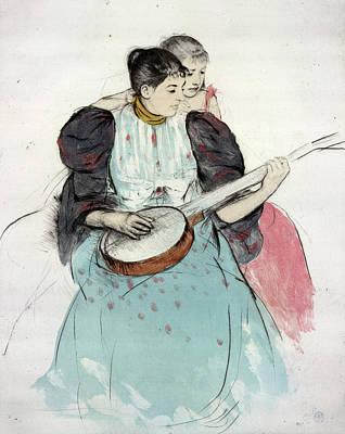 Banjo Painting - Cassatt Banjo Lesson by Granger