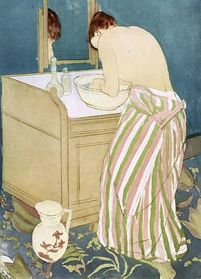 Pitcher Painting - Cassatt Toilette, 1891 by Granger