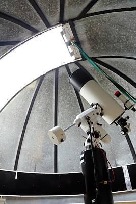 Aperture Photograph - Cassegrain Telescope In Observatory by Victor De Schwanberg