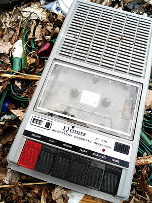 Tape Player Photograph - Cassette by Chloe Shackelton