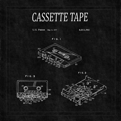 The Rolling Stones Royalty Free Images - Cassette Tape Patent 2 Royalty-Free Image by Andrew Fare
