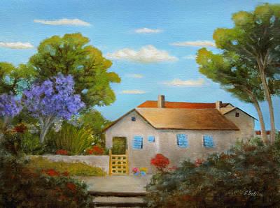 Cassie's Cottage Art Print by Gordon Beck