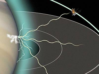 Cassini Analysing Saturn's Atmosphere Art Print