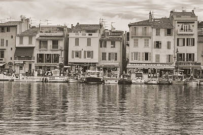 Cassis - French Town - Toned Art Print