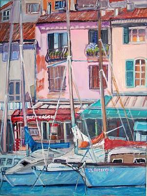 Cassis Harbor In France Original by Teresa Dominici