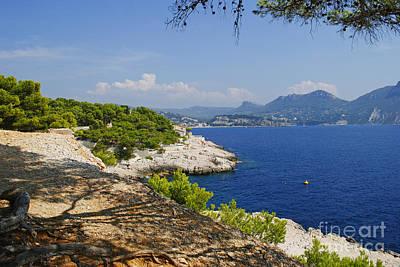 Turquois Water Photograph - Amazing Coast Of Cassis On French Riviera by Maja Sokolowska