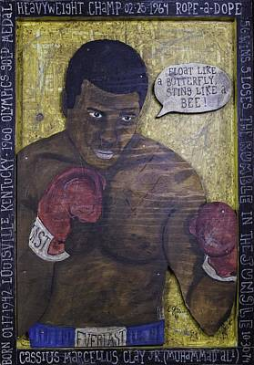Painting - Cassius Clay - Muhammad Ali by Eric Cunningham