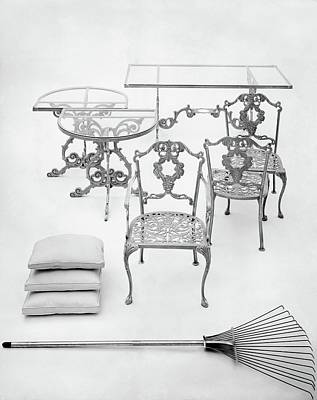 Cast Aluminum Furniture By Molla Art Print by Haanel Cassidy