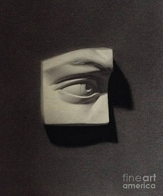 Painting - Cast Drawing Of The Eye by Margit Sampogna