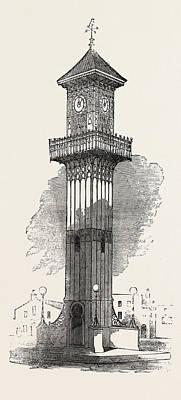Cast Iron Clock-tower For Geelong 1854 Art Print