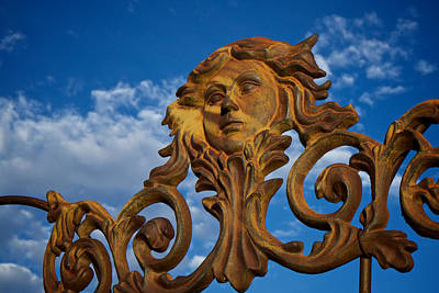 Garden Ornament Photograph - Cast Iron Maiden Of The Sky by Mary Lee Dereske