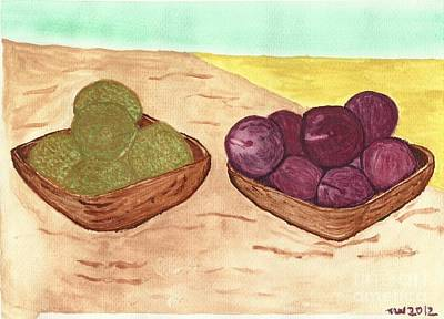 Art Print featuring the painting Castaway Fruit by Tracey Williams