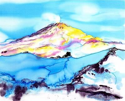 Caste Rock Antarctica Art Print by Carolyn Doe